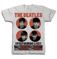 Beatles - 1962 Performing Live - Mens T-shirt Grey - NEW Official  Merchandise