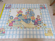 Daisy Kingdom Garden Bears Fabric Sewing Panel- 1998 by Past & Present