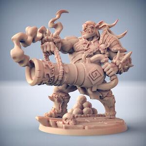 """Ogre Marauders """"Gronk Boomshot"""" Artisan Guild   28mm-35mm   DnD   RPG   Boneshop"""