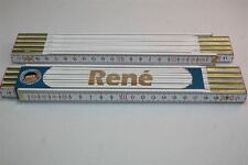 Zollstock mit  NAMEN   RENE   Lasergravur 2 Meter Handwerkerqualität