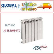 RADIATORE ALLUMINIO GLOBAL VOX EXTRA TERMOSIFONE INTERASSE 600 ELEMENTI 10
