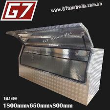 1800x650x800 Aluminium toolbox ute checker plate tool box truck storage 3/4...4