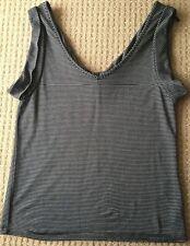 New Black & Grey Saba Career Stripe Shirt Top Work/Day Size 8
