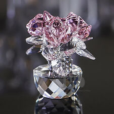 Wedding Gift Ideas Presents Gifts Anniversary Crystal Pink Rose Paperweights