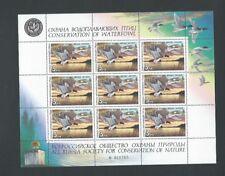 Rusia 1990 Umm conservación de aves acuáticas Sheetlet