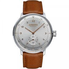 Junkers Bauhaus Herrenuhr Uhr Handaufzug Special Edition Leder Braun 6030-5