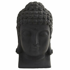 """Buddha Head Crafted Home Accessory Accent Piece Indoor Outdoor 12"""" High"""