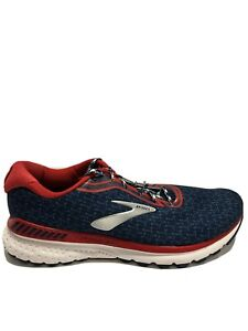 Brooks Men's Adrenaline GTS 20, Blue/Red Road Running Shoes, Size 10.5M.
