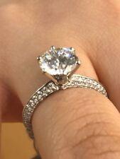WGI Certified .. 2ct   Round Diamond Solitaire Engagement Ring, Platinum