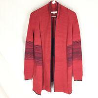 Cabi Size S Cardigan Joy Sweater Open Front Knit Stripe Style# 897 Women's