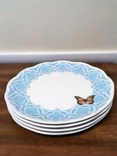 4 Lenox Butterfly Meadow Trellis Blue Dinner Plates  NEW