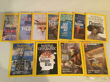 National Geographic 11 Magazines Incomplete Year Collection 2011 (no sept)