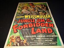 jungle jim in THE FORBIDDEN LAND la foret de la peur j weissmuller affiche 1951