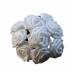 11 Colors 10 Heads 8CM Artificial Rose Flowers Wedding Bride Bouquet PE Foam Ho