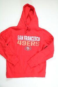 Mens Fanatics Red San Fransisco 49ers Long Sleeve Hoodie Medium NEW!