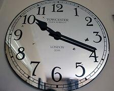 Acctim Claridge 40cm Vintage Style Mirrored Glass Wall Clock Large 5876