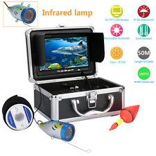 "50M IR 7"" Underwater 1000TVL Under water Lake Fishing fish finder Camera Monitor"