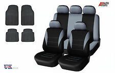 GREY CAR SEAT COVERS & RUBBER CAR MATS SET FOR TOYOTA AVENSIS AURIS COROLA