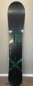 Burton Custom X Wide 168 cm Snowboard Black Green