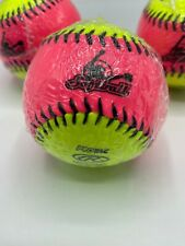 """Rawlings 10"""" Training Softball Lot Protac Hot Pink & Yellow #Rfpt10Spy 3 Count"""