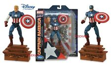 """Disney Store Marvel Select CAPTAIN AMERICA Liberty Justice Base Figure 7"""" NEW"""