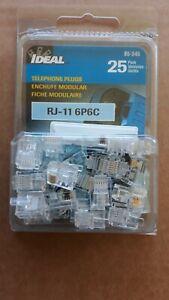 Pack of 25 Ideal 85-345 Modular Plug 6-Position 6-Contact RJ-11
