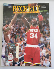 Beckett Basketball NBA Monthly #60 July 1995 Hakeem Olajuwon, Larry Bird