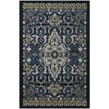 allen + roth Throw Rug Blue Indoor Moroccan Throw Rug 3' x 4'