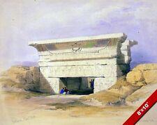TEMPLE ENTRANCE DENDERA ANCIENT EGYPTIAN RUINS EGYPT ART REAL CANVAS PRIN