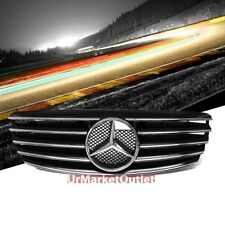 Front Black CL-Style Chrome Fins Grille for Mercedes Benz 03-06 E-Class W211