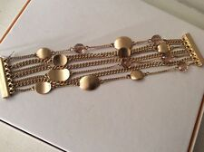 $48 Kenneth Cole Mixed Metal Wire Wrap Multi Strand Bracelet #112c