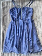 BNWT Forever New Isabella Embellished Strap Dress Summer Violet Size 16