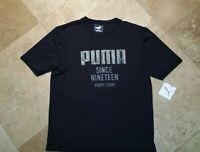 *NWT Puma Moisture Wicking Short Sleeve Graphic Tee Shirt 100% Polyester Black M