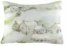 "17""x13"" Christmas Village Sue Fenlon Cushion Evans Lichfield DPA691 43x33cm"