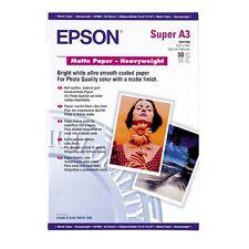 Epson Matte Paper - Heavy Weight A3 50 Sheet 167g S041264