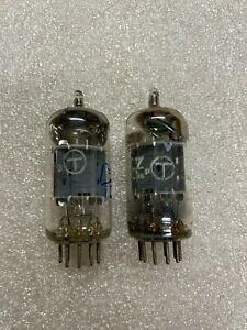 1960's Matsushita ECC83 12AX7 Matched Pair Low Noise Tubes Mullard Japan