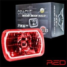 """ORACLE 7""""x6"""" Sealed Beam Single Headlight + ORACLE Pre-Installed Red SMD Halo"""