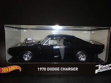 "1970 Dodge Charger ""fast and Furious"" Negro 1 18 Hot Wheels Cmc97"
