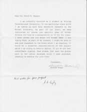 Eric Engler, Rocket Scientist, Von Braun Team member, signed letter. NASA