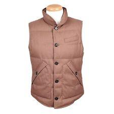 Brunello Cucinelli Beige Wool Cashmere Goose Down Puffer Vest Size M NEW BCVE8
