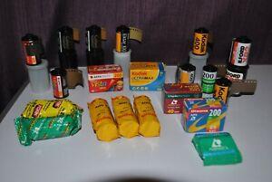 Expired Film Lot Including: 120 , 35mm , APS , Kodak , Agfa , Fujicolor , TRi-X