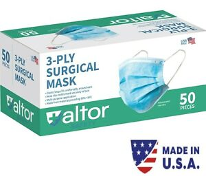 MADE IN USA 3PLY SURGICAL DISPOSABLE MASKS - ASTM LEVEL 2 99% BFE FDA  Approved