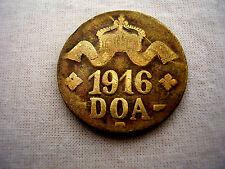 DOA TANGANYIKA EMERGENCY TABORA 1916 TWENTY HELLER BRASS COIN Type 'A-B' DOA93.