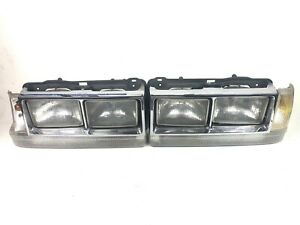 1986 1987 1988 1989 Volvo 740 760 Headlight Quad USA Style Set Pair OEM