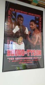 1996 BRUNO VS TYSON BOXING POSTER THE CHAMPIONSHIP PART 1 LAS VEGAS VINTAGE
