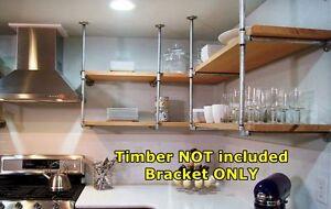 Rustic Industrial Furniture Vintage Ceiling Hung Pipe Mount Bracket Shelf BS036