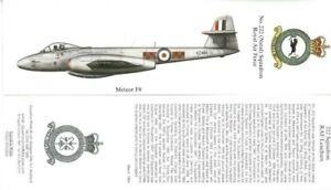RAF 222 (Natal) Squadron Gloster Meteor F.8 VZ485 Bookmark