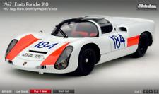 Exoto 1/18 1967 Porsche 910 Targa Florio Umberto Maglioli, Udo Schutz MTB00061B