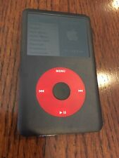 Ipod Clasic 6th 80gb Generation Black W/Red Click Wheel Excellent