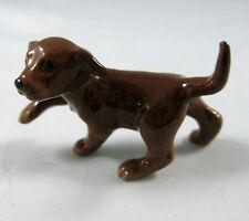 Hagen Renaker miniature Labrador Retriever Pup dog chocolate